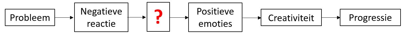 Van probleem naar positieve emoties naar progressie