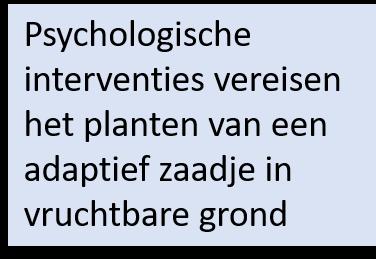 Psychologische interventies vereisen het planten van een adaptief zaadje in vruchtbare grond